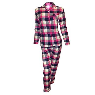 546156f8ea5 Primark Essentials Pyjama en coton pour fille Motif à carreaux Bleu  marine rouge cerise -