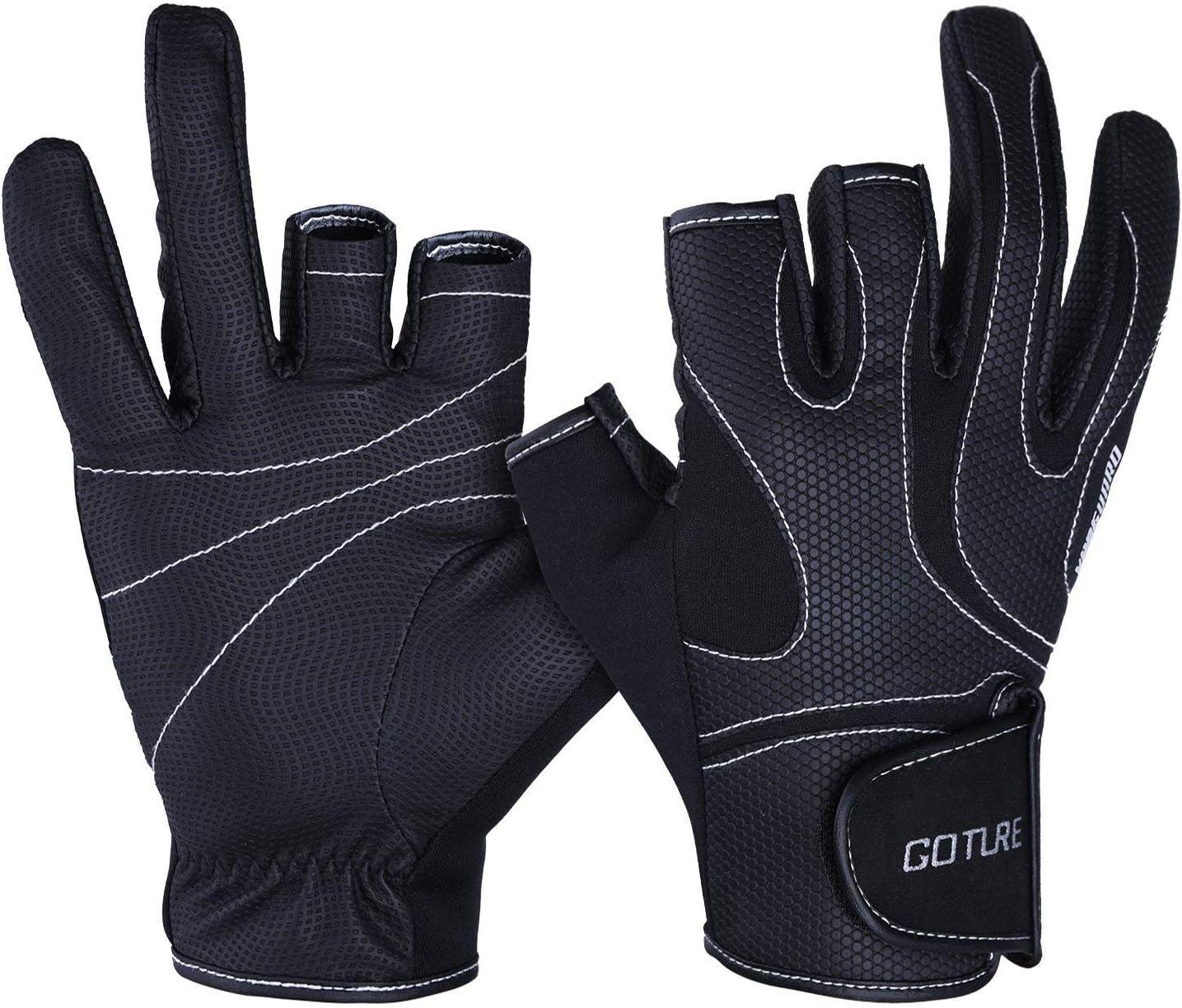 GATTORO 2 Freie Finger Angelhandschuhe Sonnenschutz Angelhandschuhe Anti-Rutsch Angelhandschuhe Outdoor-Handschuhe f/ür M/änner und Frauen