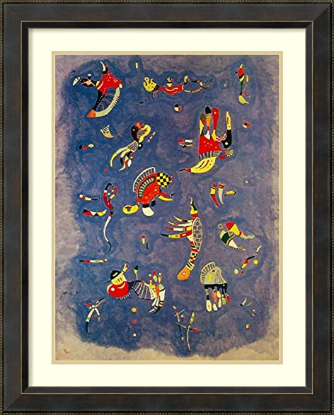 Amazon.com: Framed Art Print \'Bleu de Ciel\' by Wassily Kandinsky ...