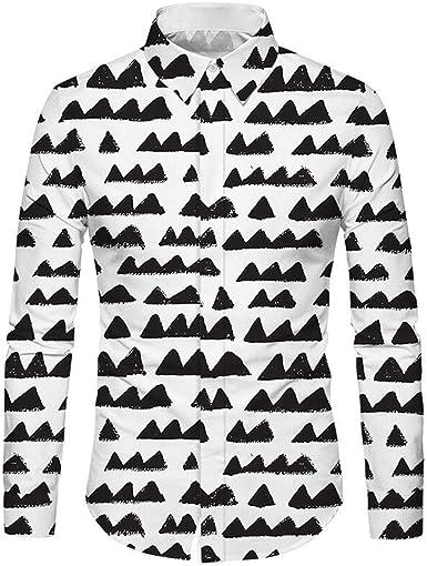 HURVXDWAQ - Camiseta de Cuadros para Hombre, diseño de Lunares, Color Negro: Amazon.es: Ropa y accesorios