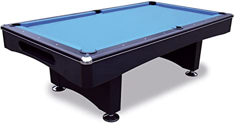 Black - Mesa de billar Pool 9 ft - 254 x 127 cm con Bandeja de ...