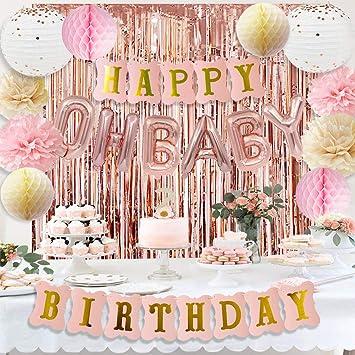 Amazon.com: HappyField - Decoración de cumpleaños para bebé ...