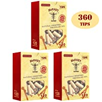 HORNET Unbleached Pre-Rolled Tips, Unrefined and Raw Cigarette Filters, Ø7mm Slim Rolling Paper Tips (360 Tips)