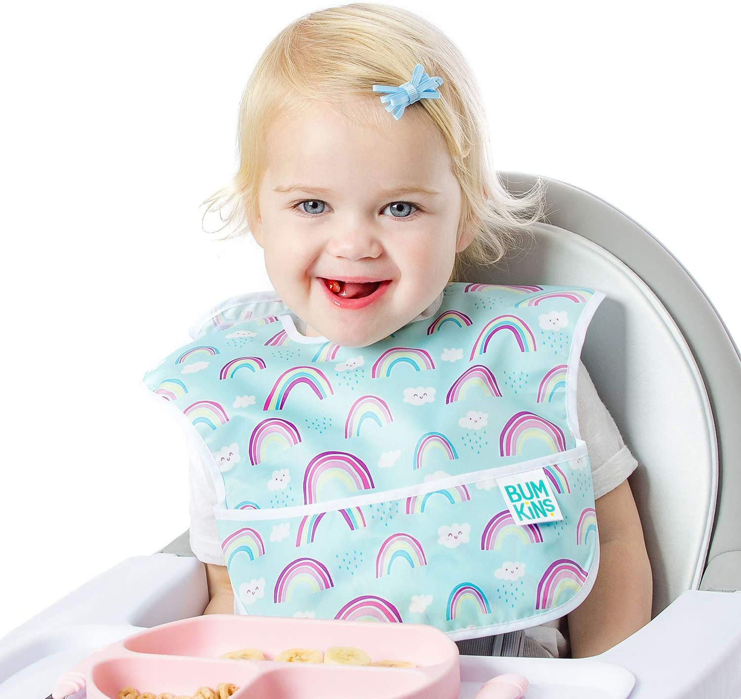 Washable 3-Pack Stain and Odor Resistant Rainbows Unicorns Waterproof Bumkins SuperBib Baby Bib Believe 6-24 Months