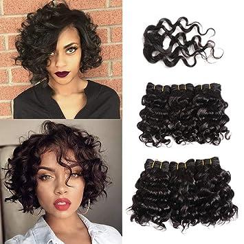 Yi Fly Lady Perücke Brazilian Haarschnitt Haarband Schließung