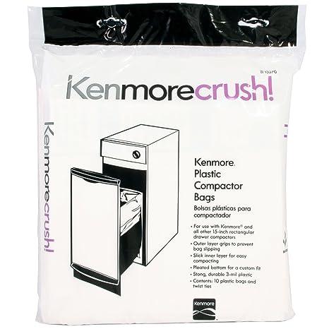 amazon com 60ct plastic trash compactor bags for kenmore ge rh amazon com