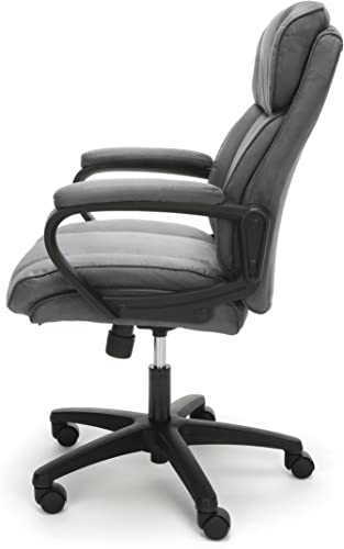 OFM Essentials Collection Plush Microfiber Office Chair, in Gray ESS-3082-GRY