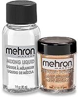Mehron Makeup Metallic Powder .17 oz with Mixing Liquid 1fl oz, COPPER