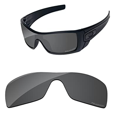 62b4820b56 PapaViva Lenses Replacement for Oakley Batwolf Black Grey - Polarized