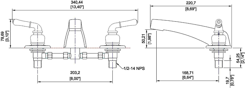 Laguna Brass 3340BZ Mobile Home Two Handle Non-Metallic Adjustable Garden Tub Filler Faucet Brushed Bronze Finish