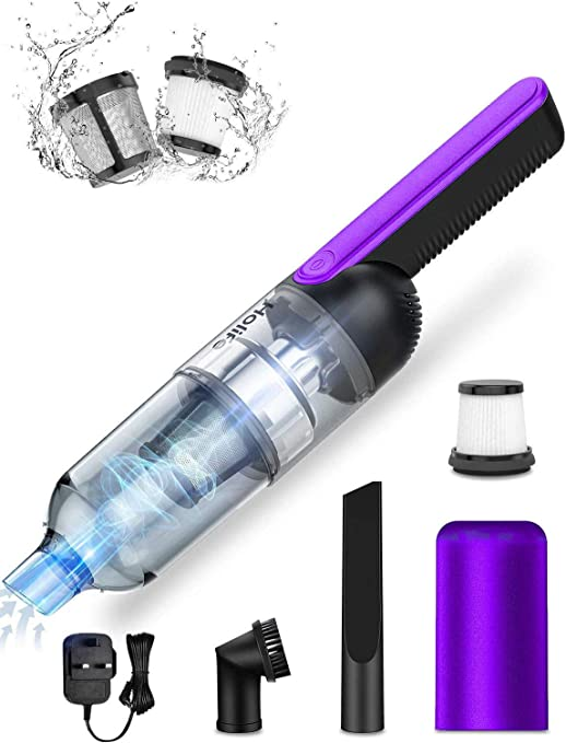 Aspiradora de mano Holife, sin bolsa, 2200 mAh/25 min, con soporte de pared (tapa antirretorno,