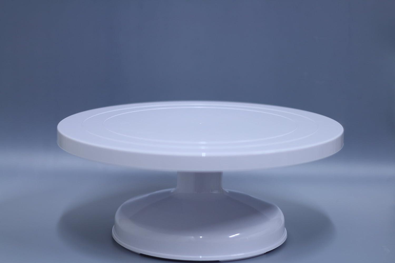 Intermediate 5.5 inch Oggibox Intermediate ABS Cake Decorating Turntable 12.5 inch x 5.5 inch