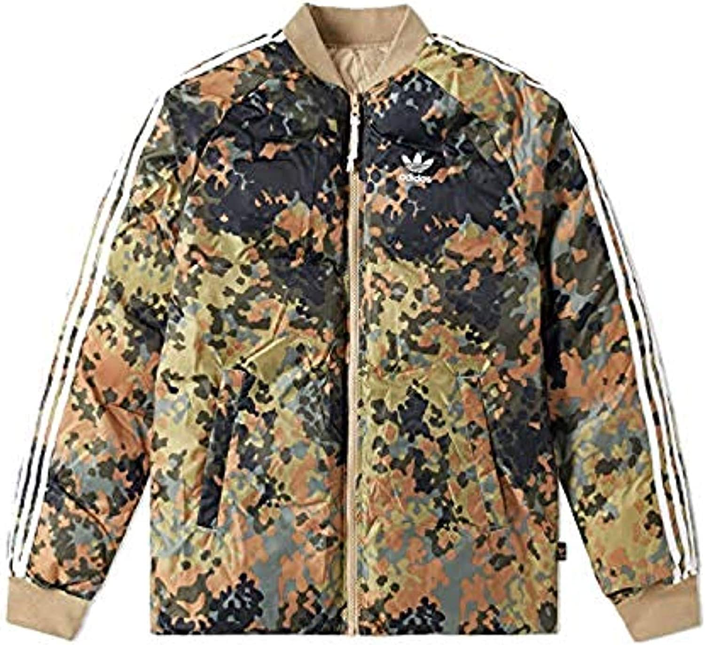 adidas x Pharrell Williams Reversible SST Veste Homme Vert Camouflage, XS