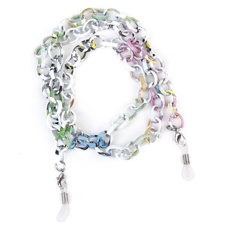 SODIAL(R) Aluminium Brillen / Sonnenbrillen / Brillen / Glaeser Kettenhalter Halskette Schnur 70CM --- Bunt 038875