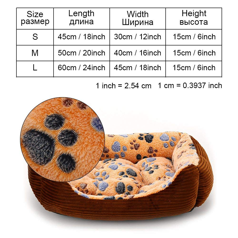 Brown-yx0002 S as pictures brown-yx0002 S as pictures Cookisn Dog Bed Sofa Puppy Pet Dog Bed Bench for Small Large Medium Dogs Cat Blanket Dog Beds Mats House Lounger Pet Bed Kennel Products brown-yx0002 S
