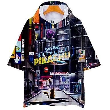 Camisetas, Unisex Pikachu Anime Theme Juventud Encapuchada ...