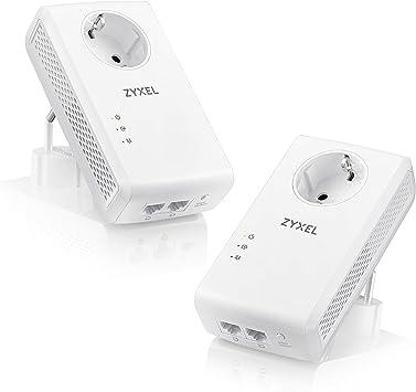 Nouvelles Arrivées lacer dans outlet Zyxel Kit CPL Filaire 1800 Mbps avec 2 Ports Gigabit Ethernet, avec prise  filtrée Pack de 2 [PLA5456]