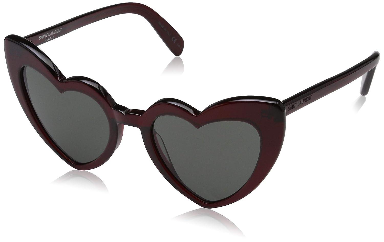 19515dd4f9 Yves Saint Laurent sunglasses Loulou (SL-181 004) Dark Bordeaux -  Transparent Bordeaux - Grey green lenses at Amazon Men s Clothing store