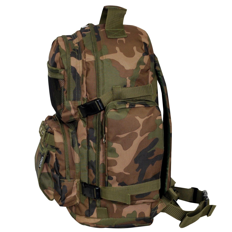 everest oversize woodland camo backpack camouflage