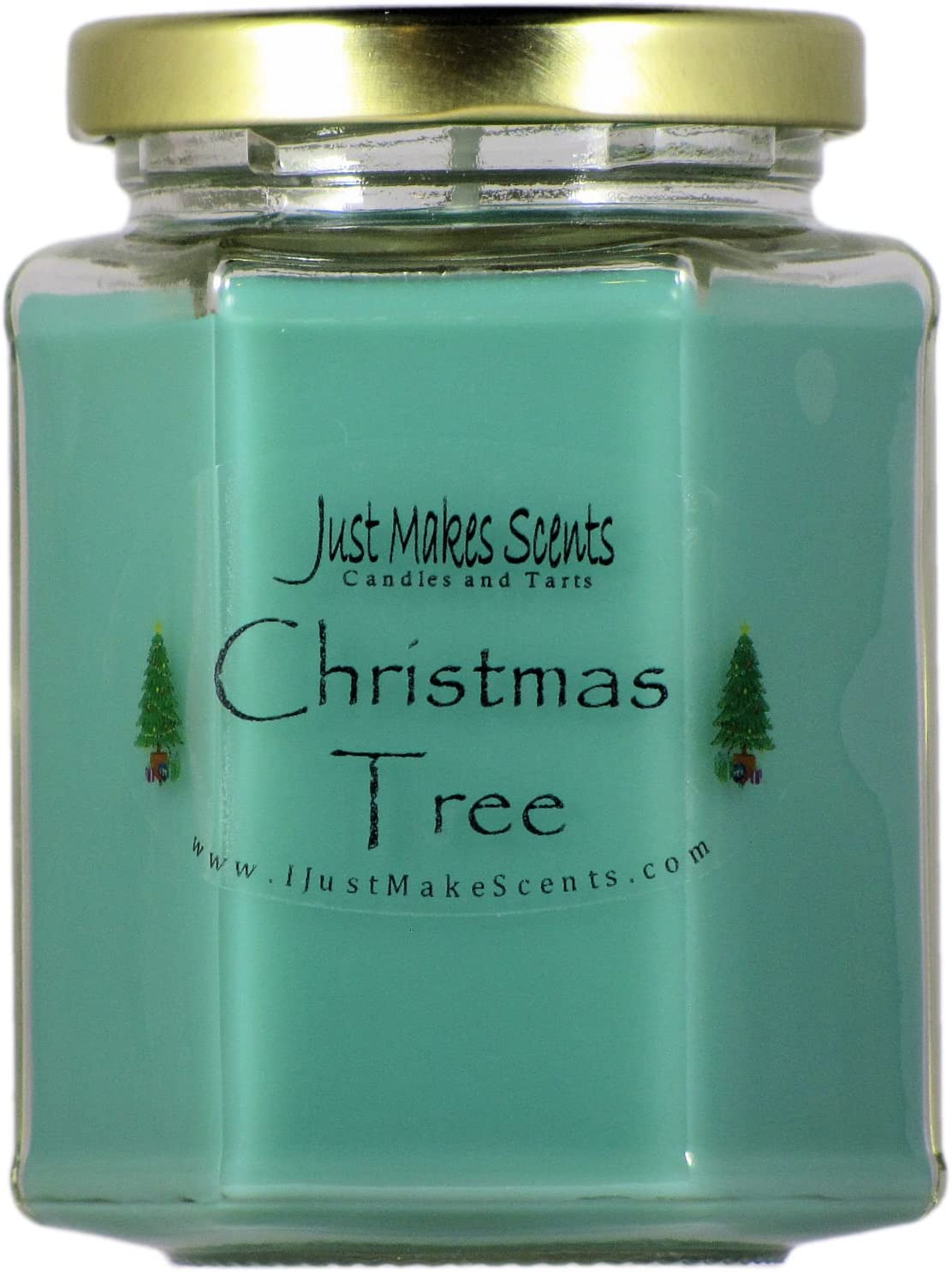 Christmas Tree Scented Blended Soy Candle | Real Christmas Tree Fragrance | Hand Poured in The USA by Just Makes Scents