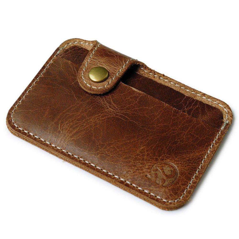 Men/'s Leather Money Cash Clip Business Credit ID Card Holder Wallet Purse Slim