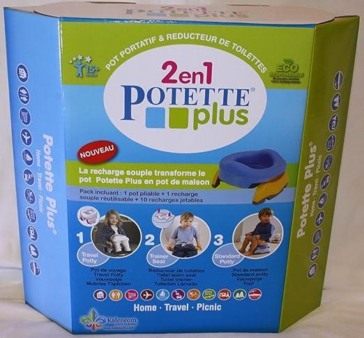 Toilettenverkleinerer Haustopf dank flexibler Nachf/üllpackung 10 Einweg-Nachf/üllpackungen hellgr/ün Potette Plus Multifunktions-Dose: Reisetopf