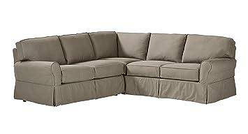 Stone U0026 Beam Carrigan Modern Slipcover Sectional Sofa, ...