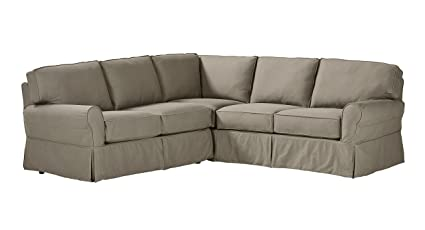Stone U0026 Beam Carrigan Modern Slipcover Sectional Sofa, 103u0026quot; ...