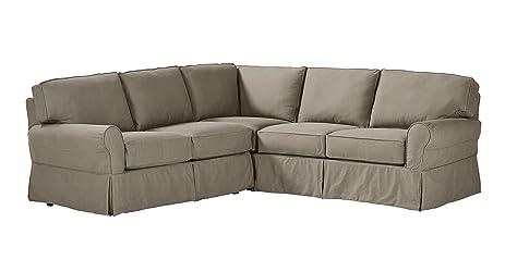 Amazoncom Stone Beam Carrigan Modern Slipcover Sectional Sofa