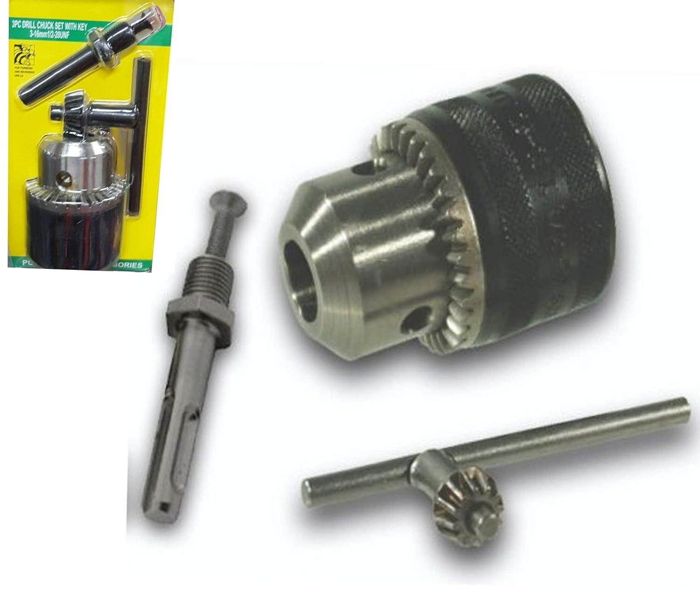 Mandril de cremallera 3-16 mm para taladro atornillador conexi/ón 1//2 20unf 3-16 mm Ti-Zeta