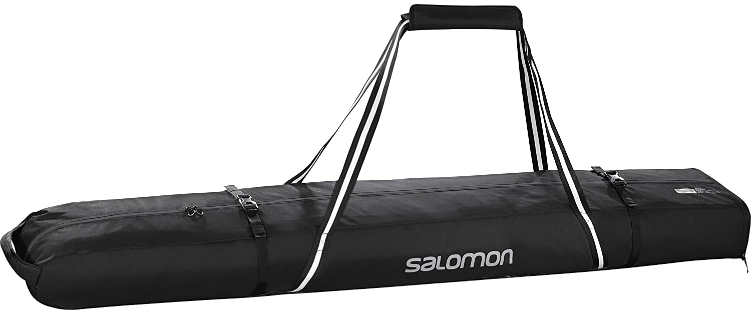 Salomon Bolsa expandible para esquís, 2 Pares, Extend SKI Bag, Negro (Black/Light Onix), l38256500