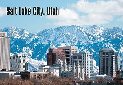 Salt Lake City Ut >> Amazon Com Salt Lake City Utah City Skyline Mountains Ut