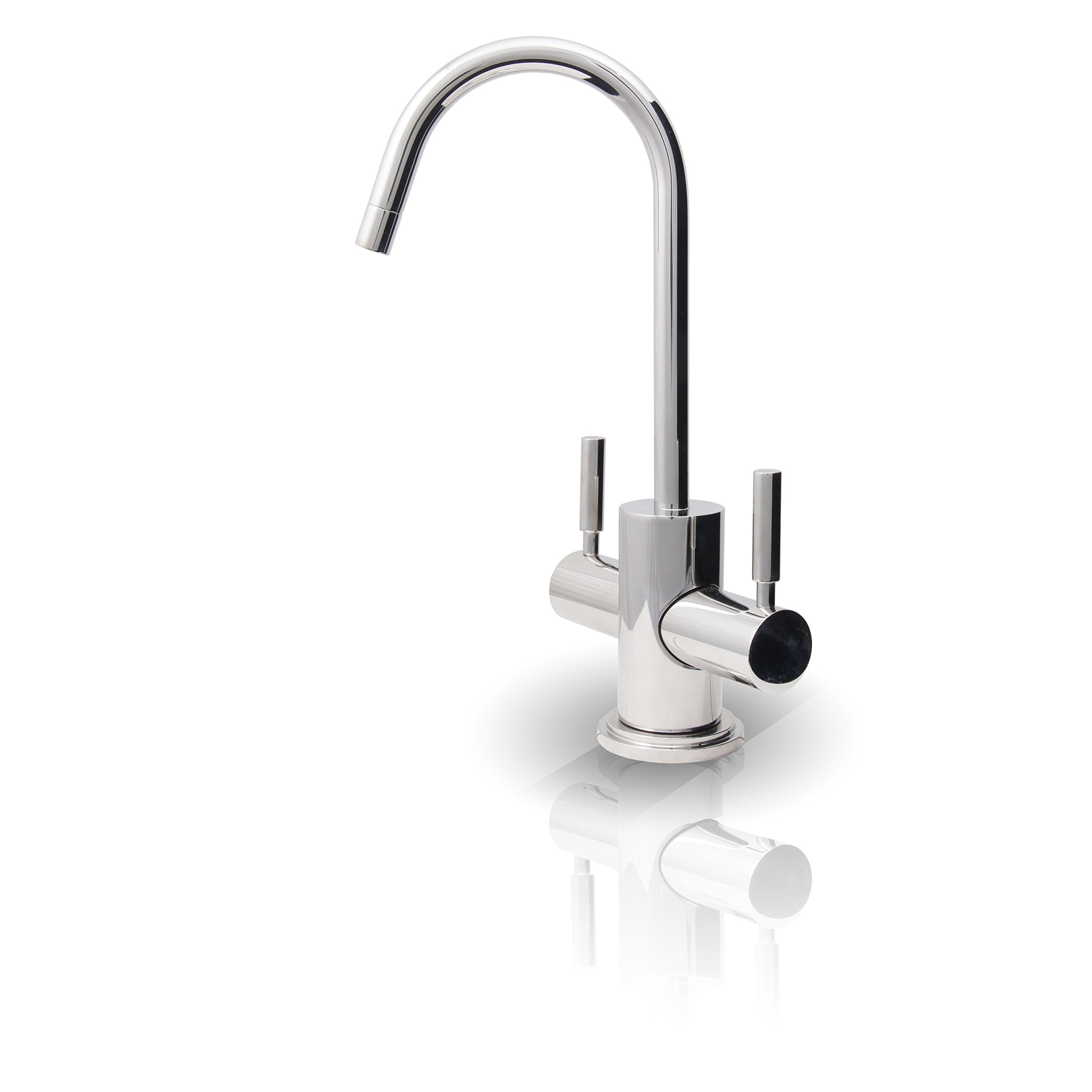 APEC Water Systems FAUCET-HC-WST-CM Instant Hot and Cold Reverse Osmosis Drinking Water Dispenser Faucet Chrome