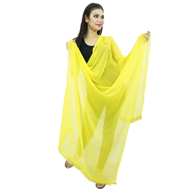Indischer Schal langer Stola Baumwollmischung Dupatta Ansatz-Verpackung Chunni Frauen Hijab tragen