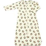 Babysoy Long Sleeve Pattern Sleep Sack Wearable Blanket (0-6 Months, Strawberries)