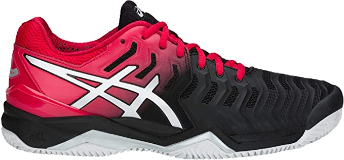 ASICS Gel Resolution 7 Clay Rojo Negro E702Y 001: Amazon.es ...
