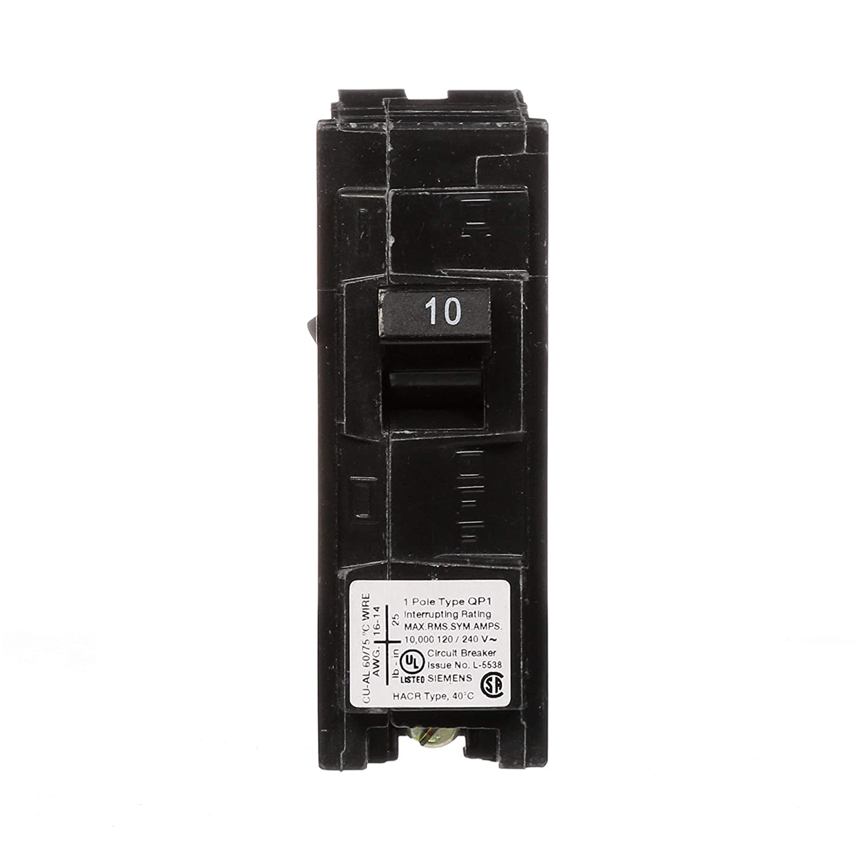 Q110 10-Amp Single Pole Type QP Circuit Breaker