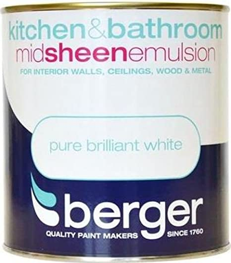 Fine Berger Paint For Kitchen Bathroom 1 Litres Matt Brilliant White Interior Design Ideas Gresisoteloinfo