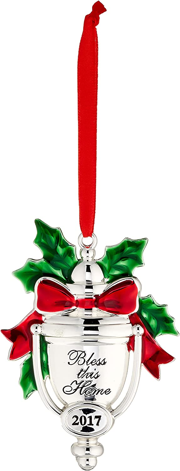 Lenox Annual Silver 2017 Bless this Home Ornament