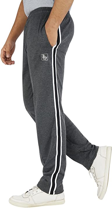 Roshan Double Stripe Cotton Trackpants Men's Track Pants at amazon