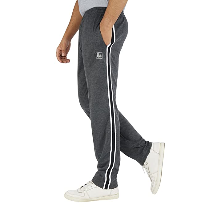 Roshan Double Stripe Cotton Trackpants Men's Track Pants at amazon