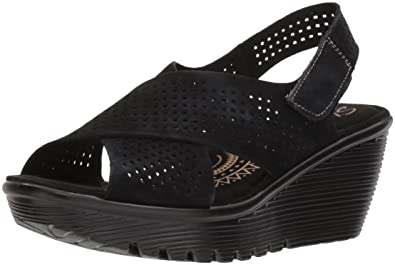 34b7ac54f791 Amazon.com  Skechers Women s Parallel Infrastructure Wedge Sandal  Shoes