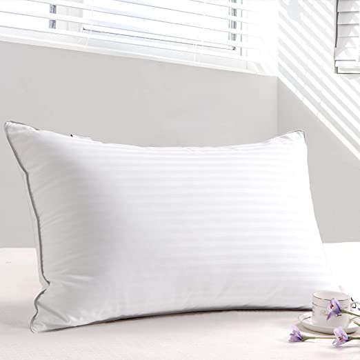 New Hotel Quality Pillows Egyptian Stripe Bed Pillows,OR buy Separate Pillowcase