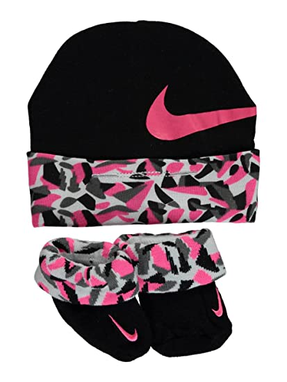 732cdcea548 ... store nike baby girls cap sock booties set black 76187 33fa1