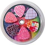 Guitar Picks for Girls - Medium Celluloid Assorted Variety 12-Pack Collection - Pretty Unique Designs Cool Pink Leopard…