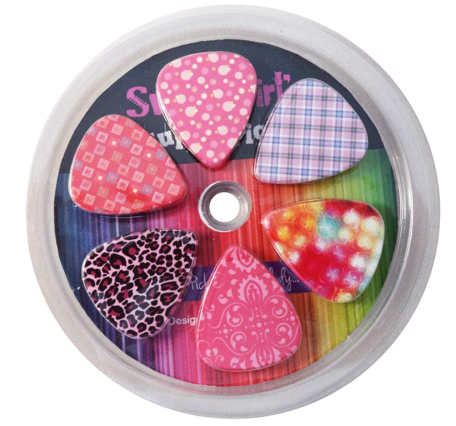 Guitar Picks for Girls - Medium Celluloid Assorted Variety 12-Pack Collection - Pretty Unique Designs Cool Pink Leopard - Best Gifts for Princess, Kids, Teens, Women, Ladies, Female Guitar Players NewEights 715547666168
