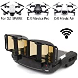 DJI Mavic Pro Mavic Air Spark Accessories for DJI Mavic Pro / Mavic Air / Spark Controller Signal Booster Foldable Signal Extender Transmitter Antenna Range Extender DJI Spark Drone Combo Remote Controller Transmitter (Gold)