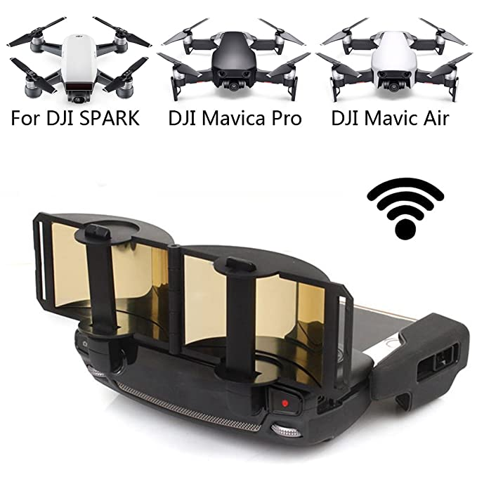 DJI Mavic Pro Mavic Air Spark Accessories for DJI Mavic Pro / Mavic Air / Spark Controller Signal Booster Foldable Signal Extender Transmitter Antenna Range Extender DJI Spark Drone (Gold) best drone accessories
