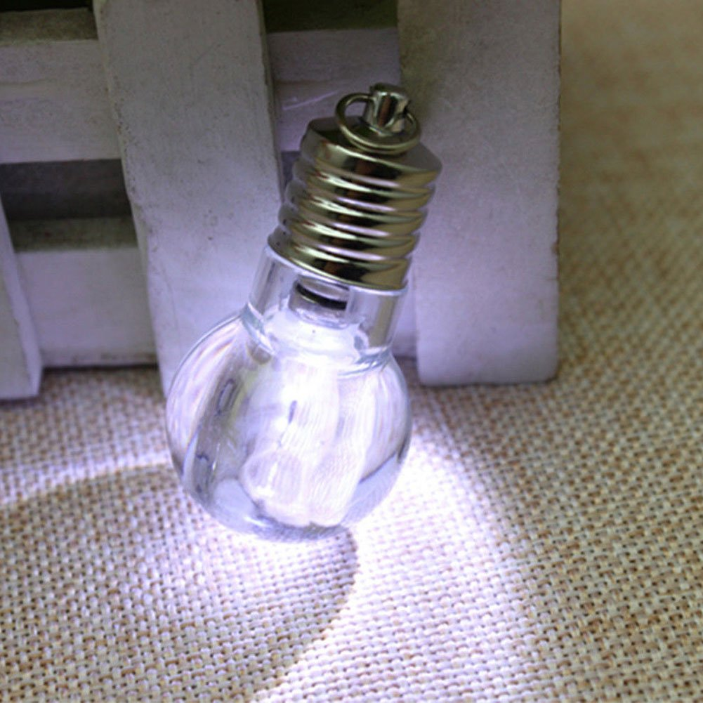 Bluelans Cute Mini LED Flashlight Light Acrylic Bulb Lamp Key Ring Keychain Torch Gift Valentines Day//Mothers Day//Fathers Day//Wedding//Anniversary//Party//Graduation//Christmas//Birthday Gifts
