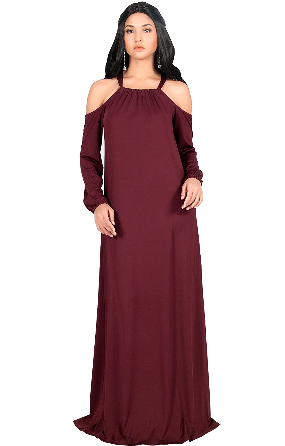 8d0aecd5bc PLUS SIZE - This great maxi dress design is also available in plus sizes.  STYLE - A sexy yet elegant maxi dress features long sleeves and a racer back